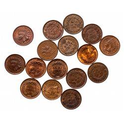 Indian Head Cents.  Better grade Lot.  1881.  EF-40 & AU-50;  1883. VF-20; …
