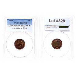 Indian Head Cent.  1898.  PCGS graded Proof-63. Red-Brown.  25% luster.