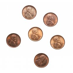 Lincoln Cents.  1909 VDB. Mint State-60. (2 pcs.);  1910-S. Mint State-62. …