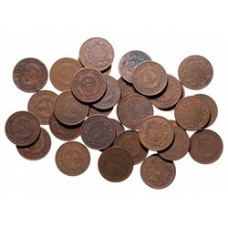 Two Cents.  1864-1871.  Lot of thirty-two (32) pieces, all Good-4 to Fine-1…