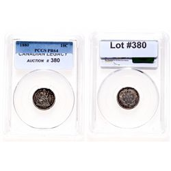 Liberty Seated Ten Cents.  1880.  PCGS graded Proof-64.  Medium heavy, mult…