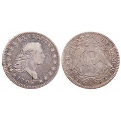 Flowing Hair Half Dollar.  1795.  Some detail visible in hair at center.  S…