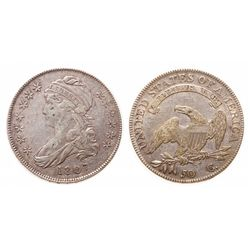 Capped Bust Half Dollar.  1807. Large Stars.  Very Fine-25.