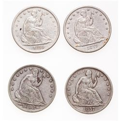 Liberty Seated Half Dollar.  1853, 1857, 1877-CC.  All Very Fine-20 or bett…