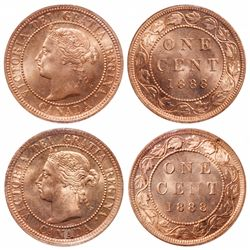1888. Re-cut middle '8'.  ICCS Mint State-66. Red.  90%+ even red-gold lust…