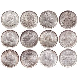 Five Cents Silver Lot. 1902-H. Large H. ICCS AU-58. Brilliant. Large vertic…