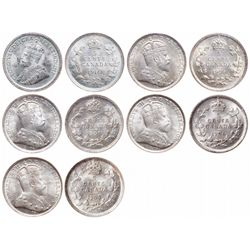 Five Cents Silver Lot. 1905. ICCS Mint State-64. Brilliant and frosty; 1906…