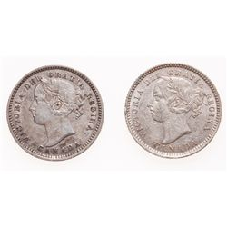 Ten Cents.  1893. Flat Top 3. Obverse port. #5;  1893. Flat Top 3. Obverse …