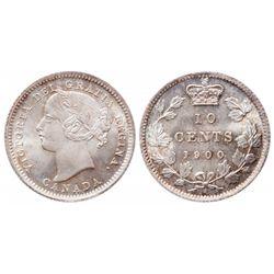 Ten Cents.  1900.  ICCS Mint State-67.  A brilliant ten cents, with a faint…