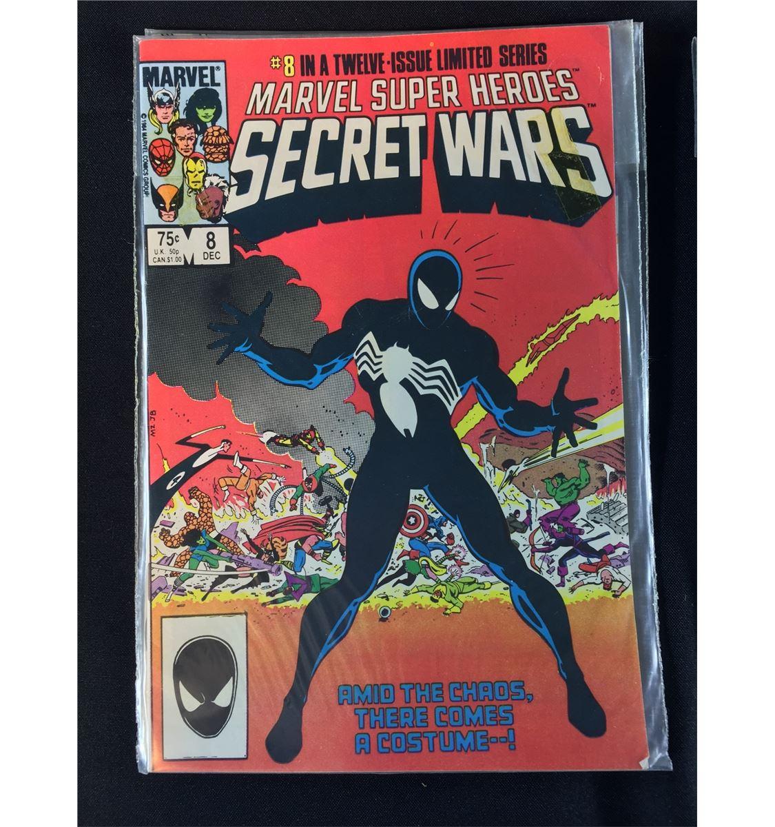 SECRET WARS #1-12 (1984-85) MARVEL'S CLASSIC 80'S MINI SERIES  COMPLETE  SET  #8-1ST BLACK SPIDEY