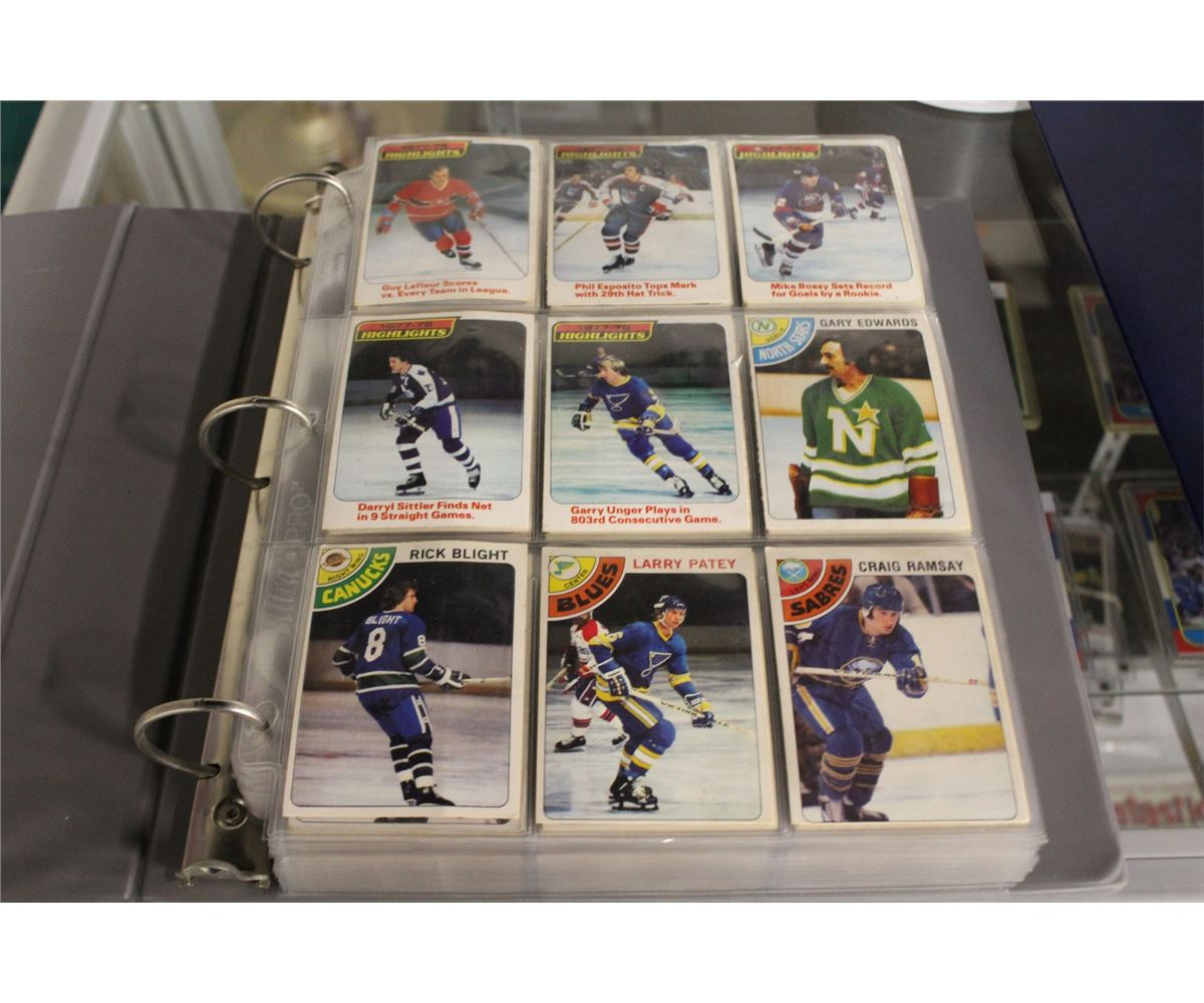 Binder Of Near Complete 1978 79 Opc Hockey Card Set Incl Key Cards 115 Mike Bossy Rookie Card