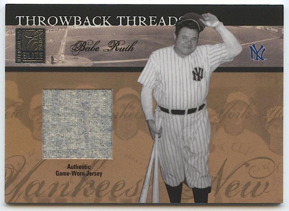 online store c1349 cf314 Babe Ruth / Lou Gehrig 2004 Donruss Elite Throwback Threads ...