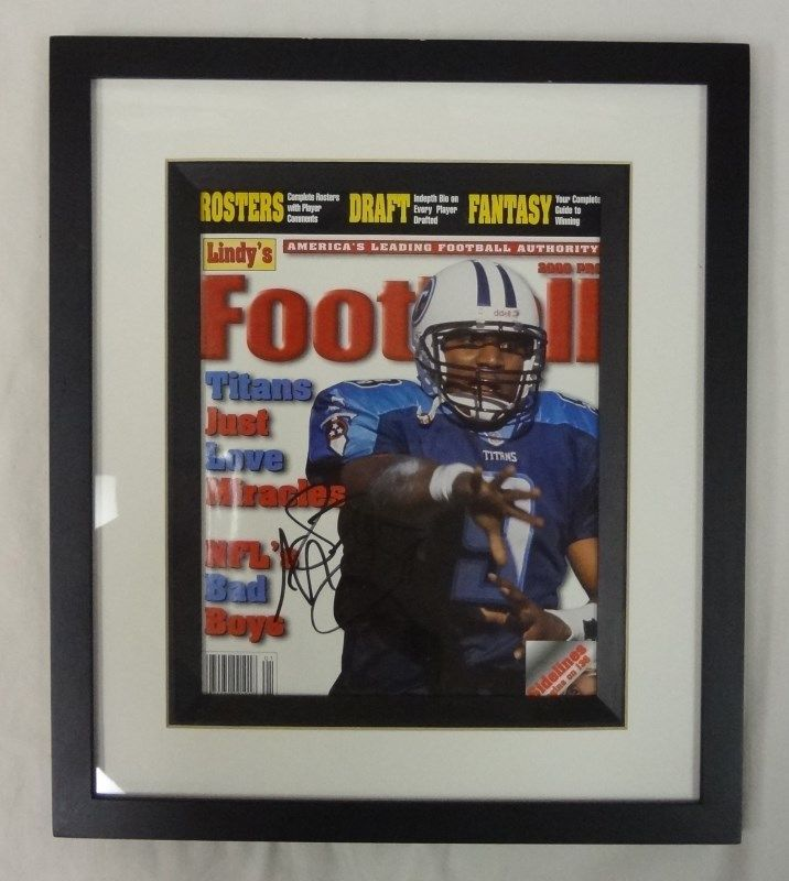 buy popular 7525f 5428d Tennessee Titans Ravens Oilers STEVE MCNAIR autograph FRAMED PHOTO