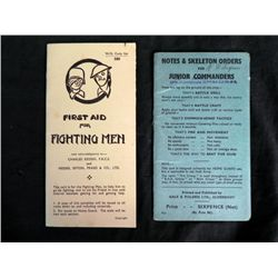 2 WWII BRITISH BOOKLETS FOR MILITARY--FIRST AID
