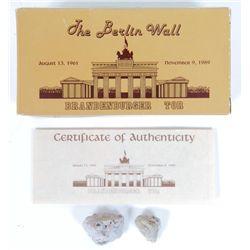 Genuine Pieces of Berlin Wall Box Gift Set Ren Forte
