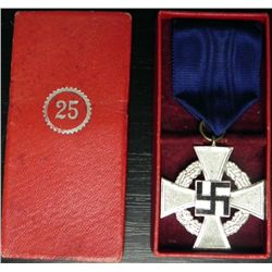 ORIGINAL CASED NAZI 25 YEAR FAITHFUL SERVICE AWARD