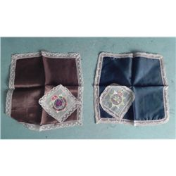 WWII BRITISH ROYAL ARMY LACE TRIMMED HANKIES-SERVICE CO