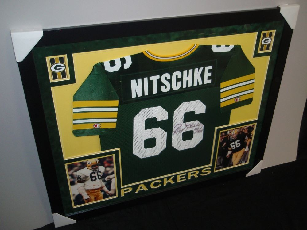 watch 4501f 326e2 Ray Nitschke Signed Packers 35x43 Custom Framed Jersey ...