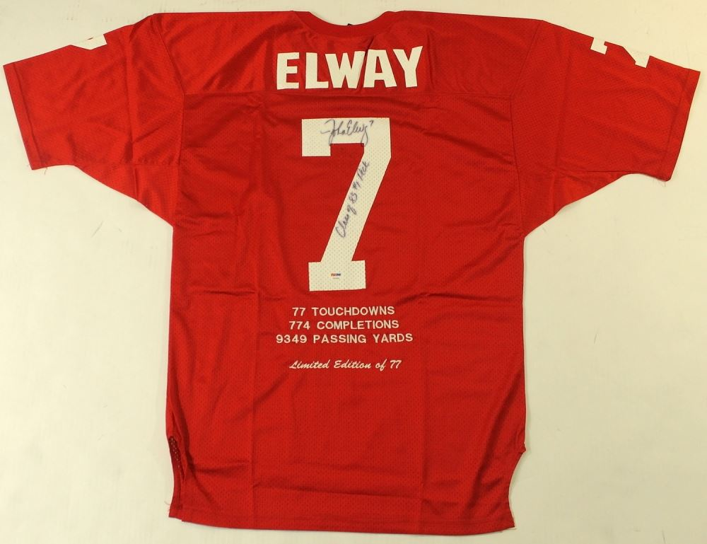 new products affdb 94d09 John Elway Signed Stanford Career Highlight Stat Jersey ...