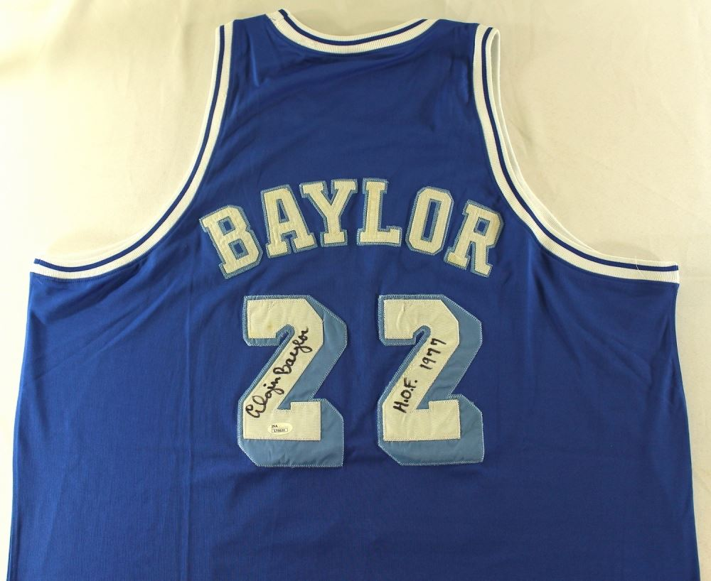 fa6aa591f665 Image 1   Elgin Baylor Signed Lakers Retro Jersey Inscribed