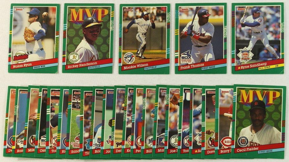 Lot Of 26 1991 Donruss Baseball Cards With Nolan Ryan