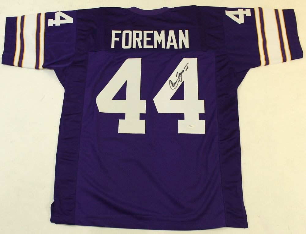 separation shoes 027b6 3634d Chuck Foreman Signed Vikings Jersey (SI COA)
