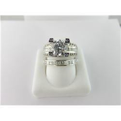 133-17262:14k white gold diamond engagement ring