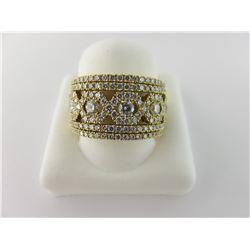 160-20345:18K yellow gold diamond ring