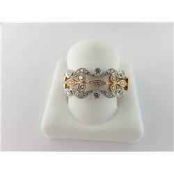 160-21058:14K white and rose gold diamond ring