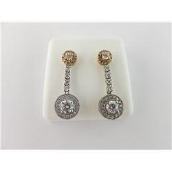 176-16581:14K white and rose gold earrings
