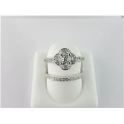 104-12285:14K white gold engagement ring