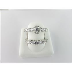 133-16235:18K white gold diamond engagement ring