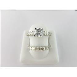133-16880:14K white gold diamond engagement ring