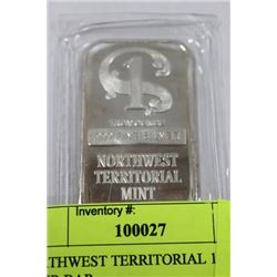 NORTHWEST TERRITORIAL 1OZ .999 SILVER BAR