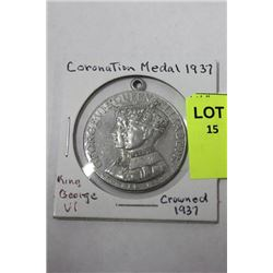 1937 CORONATION MEDAL GEORGE VI