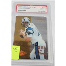 1995 KERRY COLLINS ROOKIE CARD GRADED 9