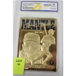 MICKEY MANTLE SIGNATURED LIMITED EDITION 23K GOLD
