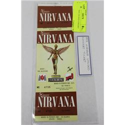 1994 NIRVANA UNUSED CONCERT TICKET
