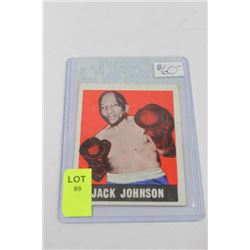 1948 JACK JOHNSON BOXING CARD