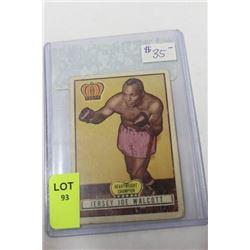 1951 JERSEY JOE WALCOTT BOXING CARD