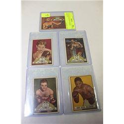 1951 TOPPS RINGSIDE BOXING CARDS X5