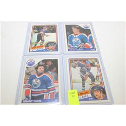 OILERS CARDS X4