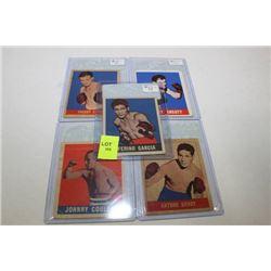 1948 LEAF BOXING CARDS X5