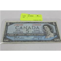 1954 $5 NOTE