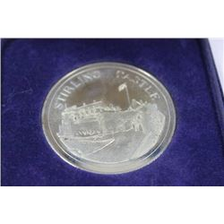 1981 STIRLING CASTLE SOLID NICKEL SILVER COIN