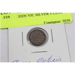 1893  QUEEN VIC SILVER 5 CENT