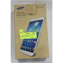 SAMSUNG GALAXY TAB 3 WHITE ANDROID TABLET 16GB
