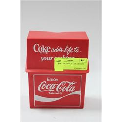 COLLECTIBLE COCA COLA RECIPE BOX