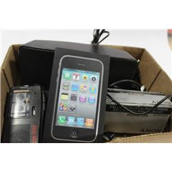 3GS IPHONE W/ PHILIPS DOCKING STATION W/ CASSETTE