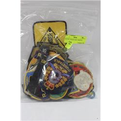 BAG OF COLLECTIBLE BADGES